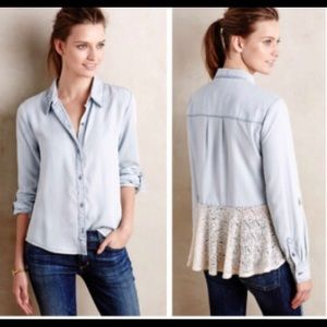 ANTHROPOLOGIE Holding Horses Blouse size Small